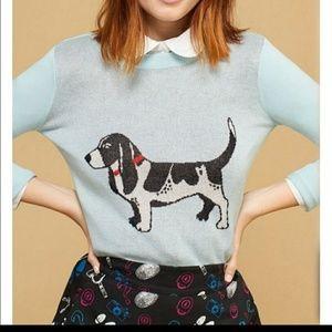 Modcloth kitsch puppy sweater